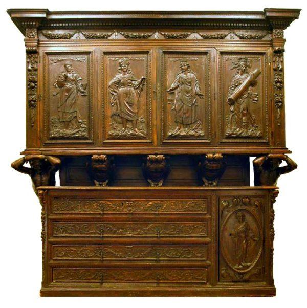 Excepcional Mueble Toscano del Renacimiento Italiano. S. XVI