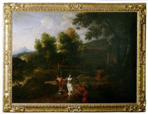 Paisaje Bucólico. Escuela Italiana, S. XVII. (Seguidor de Tiziano).