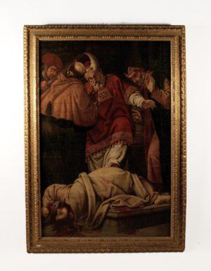 El martirio de Santiago el Menor. Escuela Valenciana, S. XVII