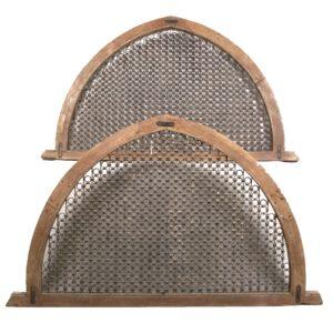 Pareja Arcos Góticos realizadas en hierro forjado dorado y madera. S. XVI