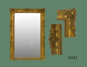 Espejo con Marco Dorado Victoriano. S. XIX