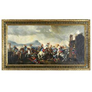 Batalla Francesa. Escuela italiana, S. XVIII.