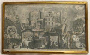 Grabado:Ciudad de Jerusalem en tiempos de Jesucristo. S. XVIII