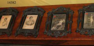 Cuatro Marcos Franceses de ébano, con relieve y Grabados, S. XIX