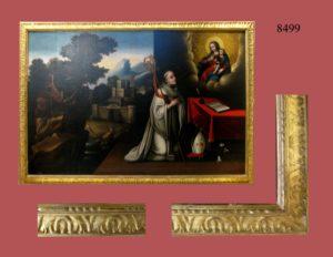 Virgen con el Niño y San Pedro. Paisaje a la izquierda. S. XVII.