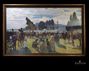 """Óleo sobre tela, Las Pencas. Firmado y fechado en el ángulo inferior izquierdo """"P. Blanes Viale, Minas - Uruguay 1924"""""""
