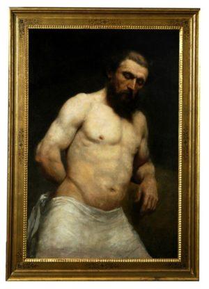 Óleo sobre tela: Retrato de hombre. Finales del S. XVIII. I. Kern, Escuela Alemana