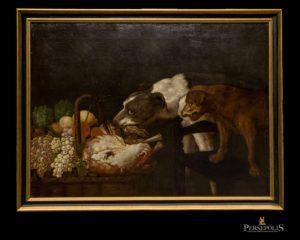 Óleo sobre tela: Naturaleza muerta. Flamenco, S. XVII. Jan Fyt, Frans Snyders, Paul de Vos