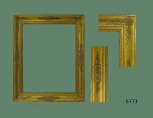 Espejo Isabelino con marco dorado en oro fino. S. XIX