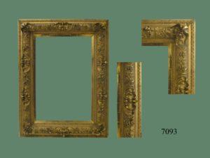 Espejo dorado con relieves, Francia, S. XIX