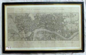 Grabado: Plano de Londres. Nouveau plane de Londres, Francia, S. XVIII