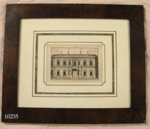 """Grabado arquitectónico: """"Entreé de la vigne du Pape Jules III au faubourg du peuple a Rome"""""""