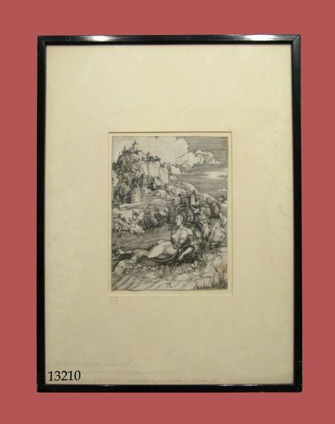 Grabado: The sea monster rape of Amymone. C. 1501. Albrecht Dürer (1471-1528)