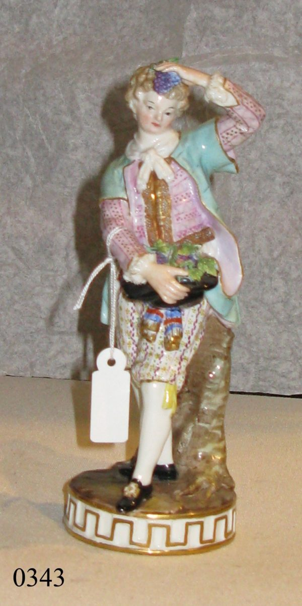 Figura porcelana Meissen. S. XVIII