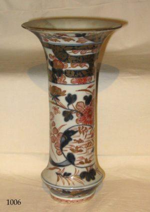 Jarrón de porcelana Imari de boca ancha. S. XVIII