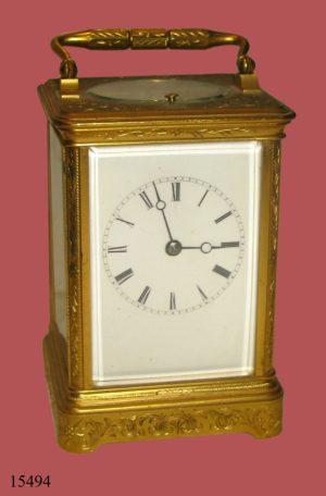 """Reloj de sobremesa """"Carriage Clock"""", maquinaría París. Francia, S. XIX"""