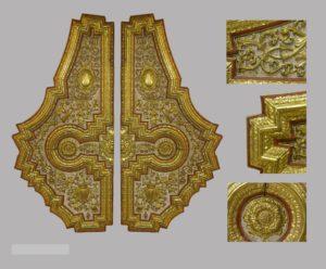 Artesonado de madera, Dorados, Lacados y Marmoleados. S.XVII