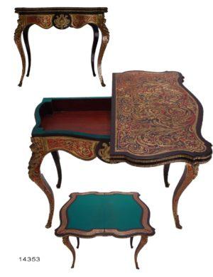 Mesa de Juego Boulle Francesa, Luis XV. Mediados S. XVIII