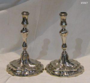 Pareja Candeleros de plata de Ley. Mallorca, S. XVIII