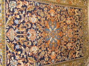 Alfombra Ghom lana y seda. Medidas: 203 x 139 cm