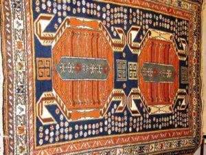 Alfombra Shahsavan Antigua. Medidas: 139 x 93 cm.