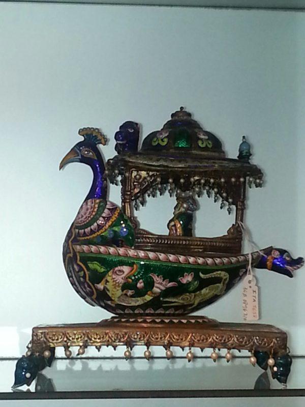 Figura esmaltada: Pavo Real .India