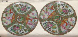 Пара китайских керамических блюд